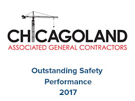 Chicagoland Association of General Contractors Logo & AGC Logo - Outstanding Safety Performance 2017